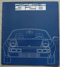 PORSCHE 928 Sports Car Sales Brochure 1977 #1138.20
