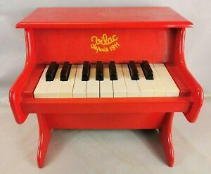 MUSIQUE Petit PIANO Enfant marque VILAC Bois Laque rouge JOUET Eveil Musical O
