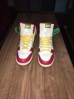 Nike Dunk High 6.0 Rasta 517562-173 Size 10.5 Sneakers White Red Green Yellow
