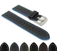 Bandini Leather Watch Band, Racer Strap, 5 Colors, 18 20 22 24mm Extra Long Too