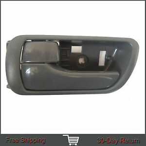 For 02-06 Toyota Camry Inside Inner Front Rear Left Side Driver Gray Door Handle