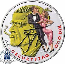 Deutschland 20 Euro Silber 2016 bfr Silbermünze Otto Dix in Farbe