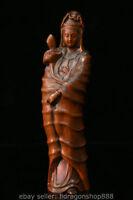 """8 """"sculpture en bois de buis Kwan-Yin Guan Yin en bois de buis de Chine"""