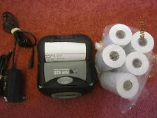 Zebra RW 420 Mobile Thermal Printer BLUETOOTH with Adapter and some rolls paper