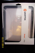 Griffin Reveal Hard Shell Case Slim Cover 1st Origina iPad Black Clear GB01619