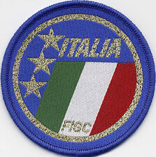 Italia Italy Retro 80's / 90's Football Badge Patch 7.1cm x 7.1cm Circle