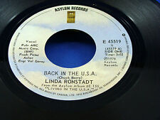 LINDA RONSTADT - Back In The U.S.A. - 1978 VG++ 45 with PICTURE SLEEVE