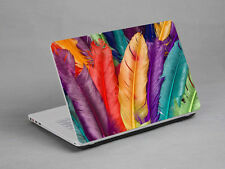 LAPTOP NOTEBOOK SKIN STICKER COVER DECAL COLORFUL FEATHER DELL LENOVO 15.6 inch