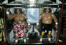 "WWE Classic Superstars Wild Samoans ""Autographed"" Elite Custom Legends Hasbro"
