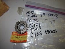 Suzuki TS100,DS100,DS125,TS125 1978-81 oem 5th gear driven 24351-48000
