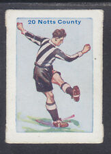 Thomson - Football Team Cards 1934 - # 20 Notts County