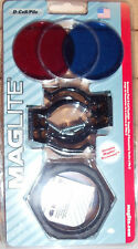 MAGLITE D CELL FLASHLIGHT ACCESSORY KIT ASXX376 CLAMPS 3 LENS ANIT ROLL RING NEW