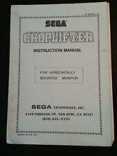 Sega Choplifter 1986 Instruction Manual schematics vintage original