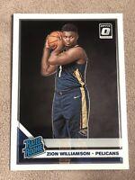 2019-20 Panini Donruss Optic Rookie Rated #158 Zion Williamson RC (Plz Read)