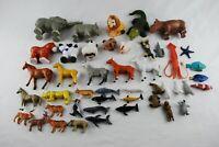 Mix Lot Sea Creature Animal Figures Mini Figure Farm Zoo Safari Horses Whales