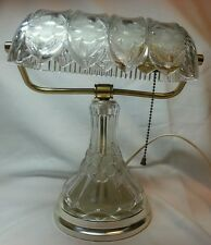 Crystal Bankers Lamp