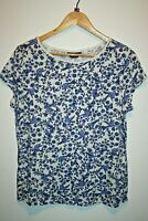 Dorothy Perkins Women's Casual White Floral Short Sleeve T-shirt Top Size 16