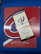 ☆☆NHL MONTREAL CANADIENS CENTENNIAL GAME TICKET & PROGRAM DEC.4, 2009☆☆
