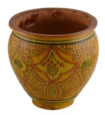 Ceramic Plant Flower Planter Pot Moroccan Spanish Garden Drain Hole Terracotta