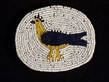 Beaded Medallion depicting a Rooster Rare! Southwest American Style Very Old
