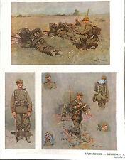 ARMEE ALLEMANDE DEUTSCHE WEHR UNIFORME RESEDA DESSINS SCOTT  ILLUSTRATIONS 1911