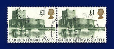 1992 SG1611 £1 Carrickfergus Castle UK5 Pair Good Used ctml