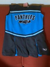 NFL Reebok Carolina Panthers Toddler Girl Cheerleading Outfit Size 2T