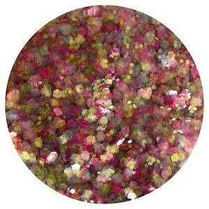 CHUNKY MIXED RAINBOW GLITTER Nail Art Body & Wine Glass PICK YOUR BAG SIZE