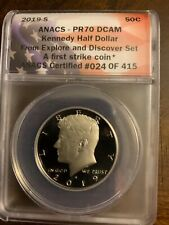 2019-S Kennedy Proof Half Dollar -Explore and Discover Set, ANACS PR70DCAM FS
