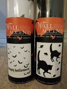 #A6 [Lot of 2] Designer Wall Accents Decals Cat & Mice/Happy Halloween EUC