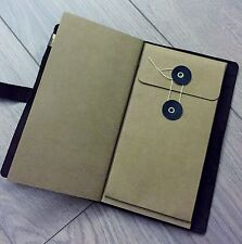 9X5 Kraft Paper Pocket Bag Envelope For Traveler Note Book Journal Diary Refill