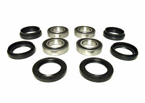 Pair of Front Wheel Bearing Kits for Yamaha Grizzly 600 4x4 1998