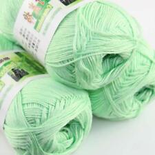 Sale New 3 Skeinsx 50g Soft Bamboo Cotton Baby Hand Knit  Shawls Crochet Yarn 15