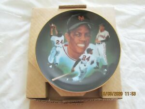 WILLIE MAYS 1985 HACKETT LIMITED PLATE PAINTING BY Christopher Paluso