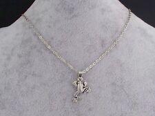 Tibetan Silver Frog Pendant, Tibetan Silver  Chain Necklace.Handmade