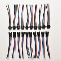 20X Mâle Femelle Connecteur 4Pin Avec Fil Pour 5050/3528 Rgb Led Driver/Strip JE