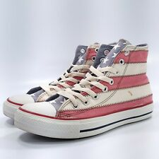 Converse All Star and Stripe Athletic Shoe Womens Size 8.5 122182 Red White Blue
