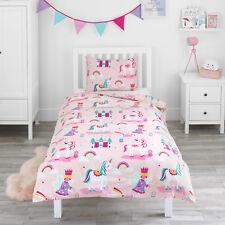 Duvet Cover & Pillowcase Set Magic Unicorn Fairy Princess Girls Kids Bed Bedding