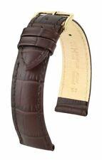 Hirsch Duke 20 mm brown watch strap, length M