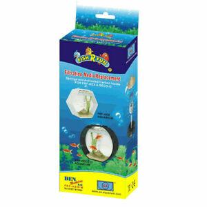 Fish R Fun Replacement Media For Deco Aquarium Fish Tanks Carbon Foams FRF-HEX/M