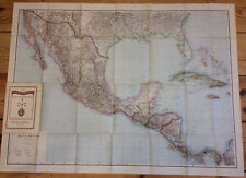 1941 vintage map MITTELAMERIKA 1:4 000 000 - Justus Perthes Central America