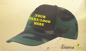 CAMOUFLAGE Baseball Cap Delivery Unisex 100% Cotton Twill Size Adjustable
