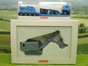 Wiking 2390160 e5tc H0 Menck Bagger, Zugmaschine mit Tieflader (YN) E1423