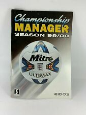 Championship manager 99/00 Instruction Booklet Manual Only