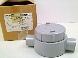 "Killark GESCT-4M GUAC47 Outlet Body Condulet Hazardous Round Iron 1-1/4"" Hub CB"