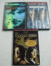 LOT x3 DVDS davinci code butterfly effect hollow man