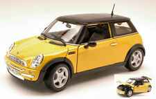 New Mini Cooper Sunroof Yellow 1:18 Model MAISTO