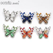 6pcs/lot New Colorful Butterfly 18mm Metal Snap Button Fit Snaps Jewelry KZ0346