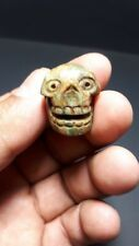 Pre-Columbian Aztec stome skull from Mexico.