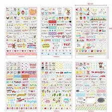 6PCS Korean DIY Book Wall Album Decor Cartoon Decorative Transparent Sticker